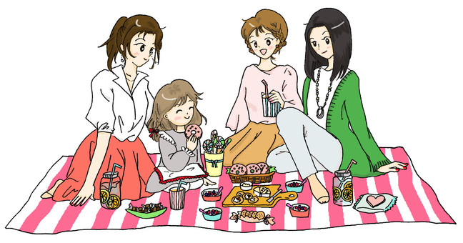 Fashionable picnic