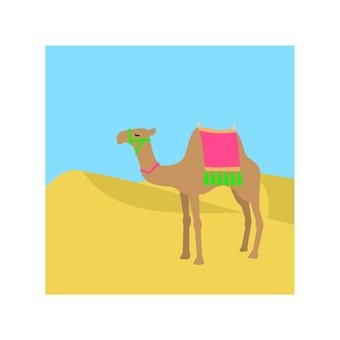 駱駝和沙漠