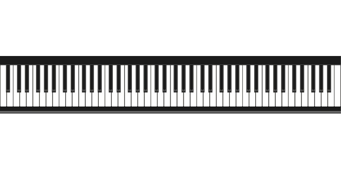 Piano keyboard keyboard