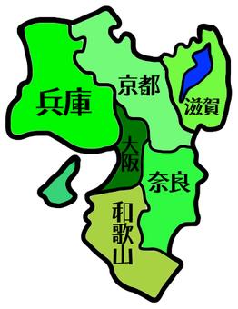 Kansai map Enter prefecture name