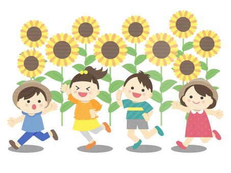 Illustration of summer _ children _ play
