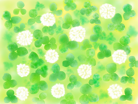 White clover wallpaper