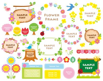Spring frameset 02 flowers