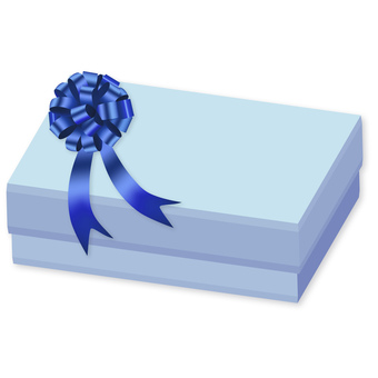 Gifts and ribbon blue