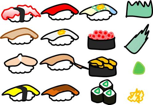 Japanese food sushi set