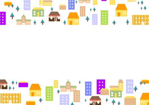 Illustration of the city Frame 2 (Landscape)