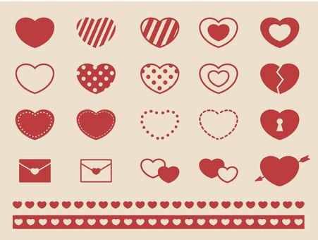 Heart material set