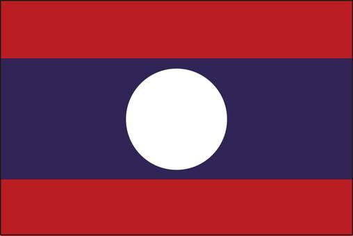 Laos flag (without name)