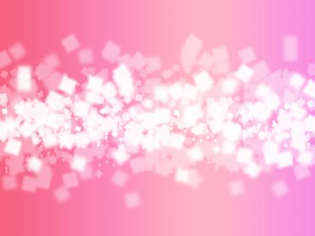 반짝이 사각 (핑크)