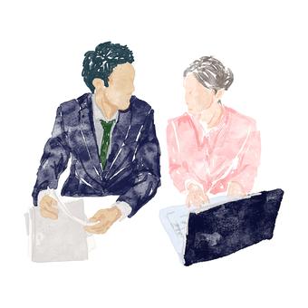 Men and women to meet