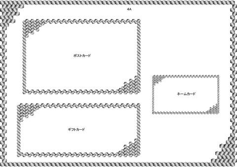 frame-hexagon 4 species monochrome