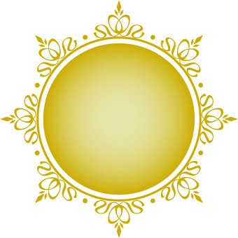 Decorative frame round gold