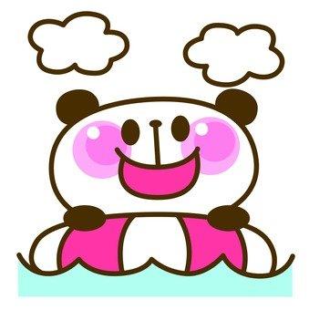 Panda beach bathing