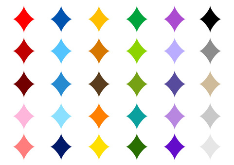 Diamond mark color variation