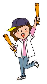 棒球比賽女孩
