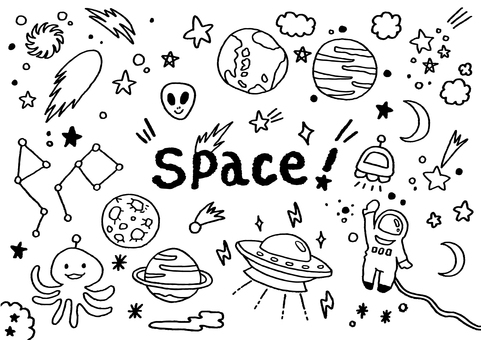 Hand drawn space world