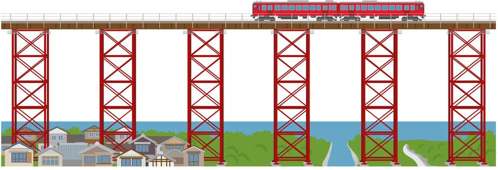 Railroad scenery 7 Yobe iron bridge