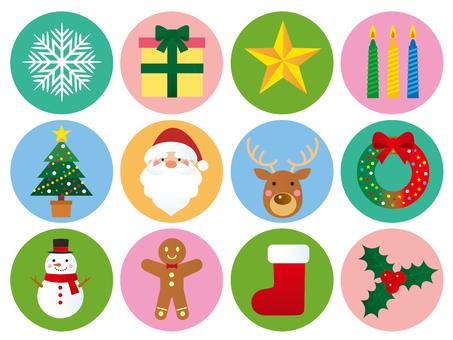 Christmas icon illustration