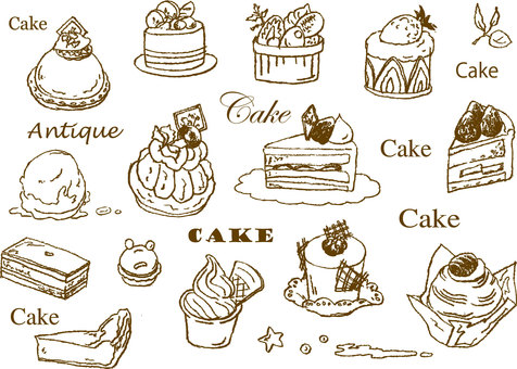 Cake hand drawing