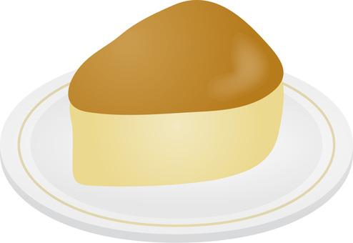 Cheese cake cut
