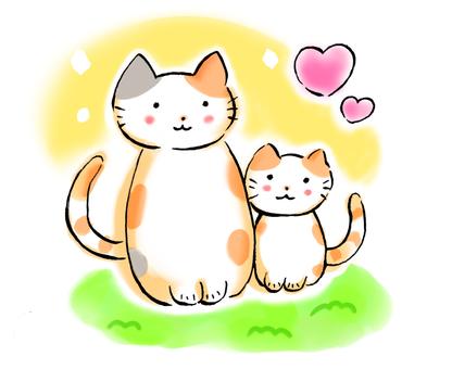 Good friend parent and child cat 2