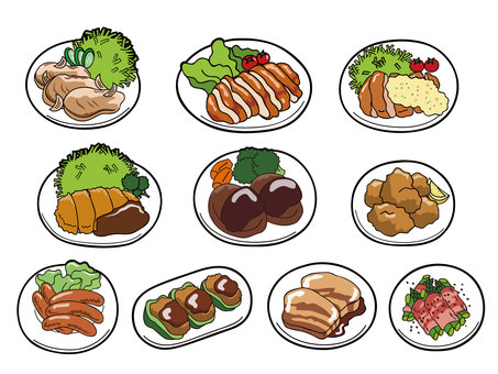 Meat dishes set