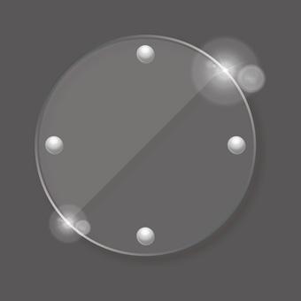 Transparent circular icon button