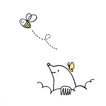 두더지 나비 꿀벌