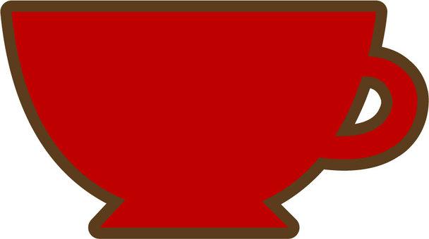 찻잔 (빨강)
