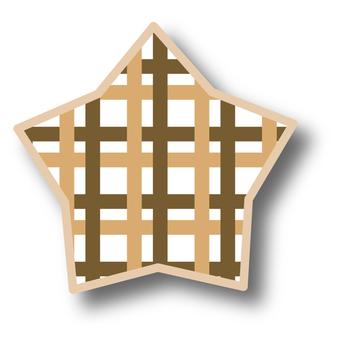 Star check brown b