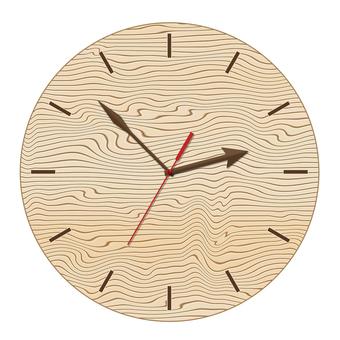 Watch (circle) wood grain