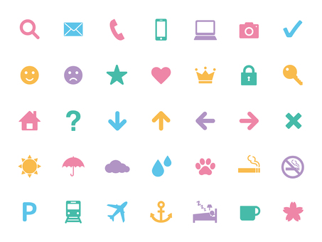 Set of icons (color)