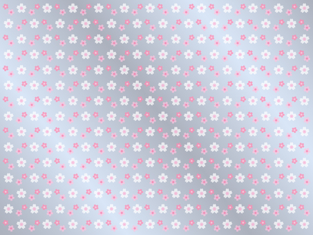 Cherry blossom pattern background (silver)