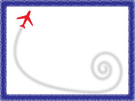 비행기와 비행기 구름 프레임