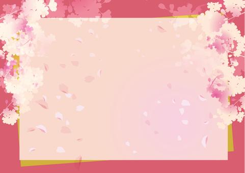 Spring cherry frame 1