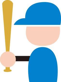 Baseball, batter, baseball, silhouette