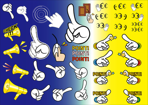 Free illustration click index finger hand icon picture