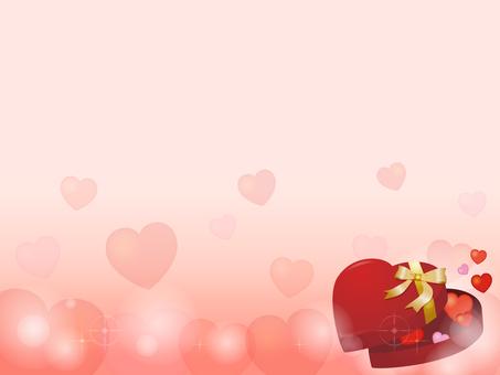 Heart gift box decorative frame 4