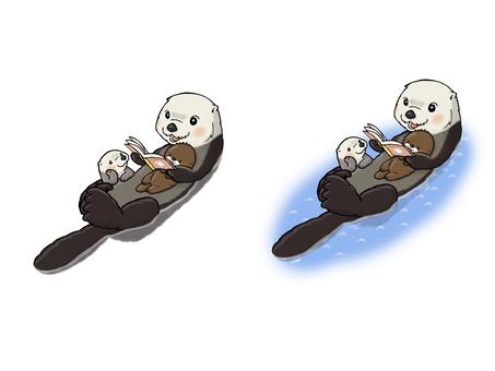 Storytelling sea otter