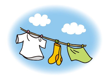 Blue sky and laundry