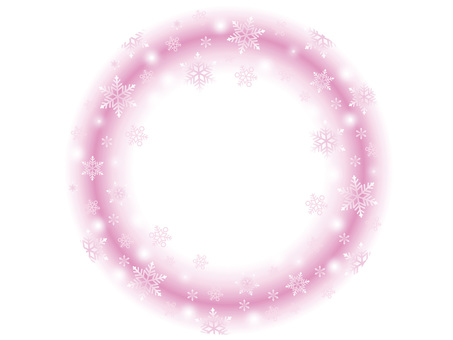 Snow Frame 4 Pink