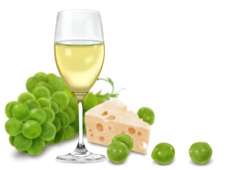 マスカットとワインとチーズ