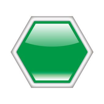 三維按鈕圖標六角形