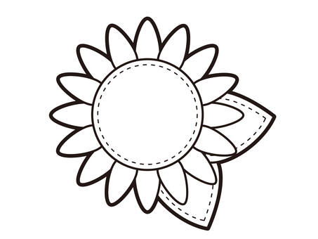 Sunflower icon black and white