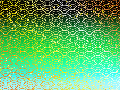 : and wind rippled gold foil グラデ Chihiro paper wallpaper / turquoise