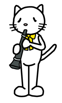 Cat music concert Clarinet