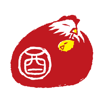 Rooster stamp 2