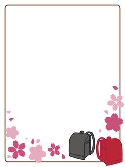 입학 프레임 벚꽃