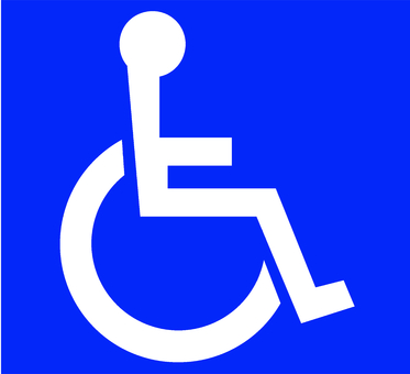International symbol mark for people with disabilities Blue No Processing