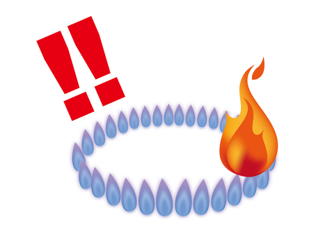 Gas stove's fire (attention)